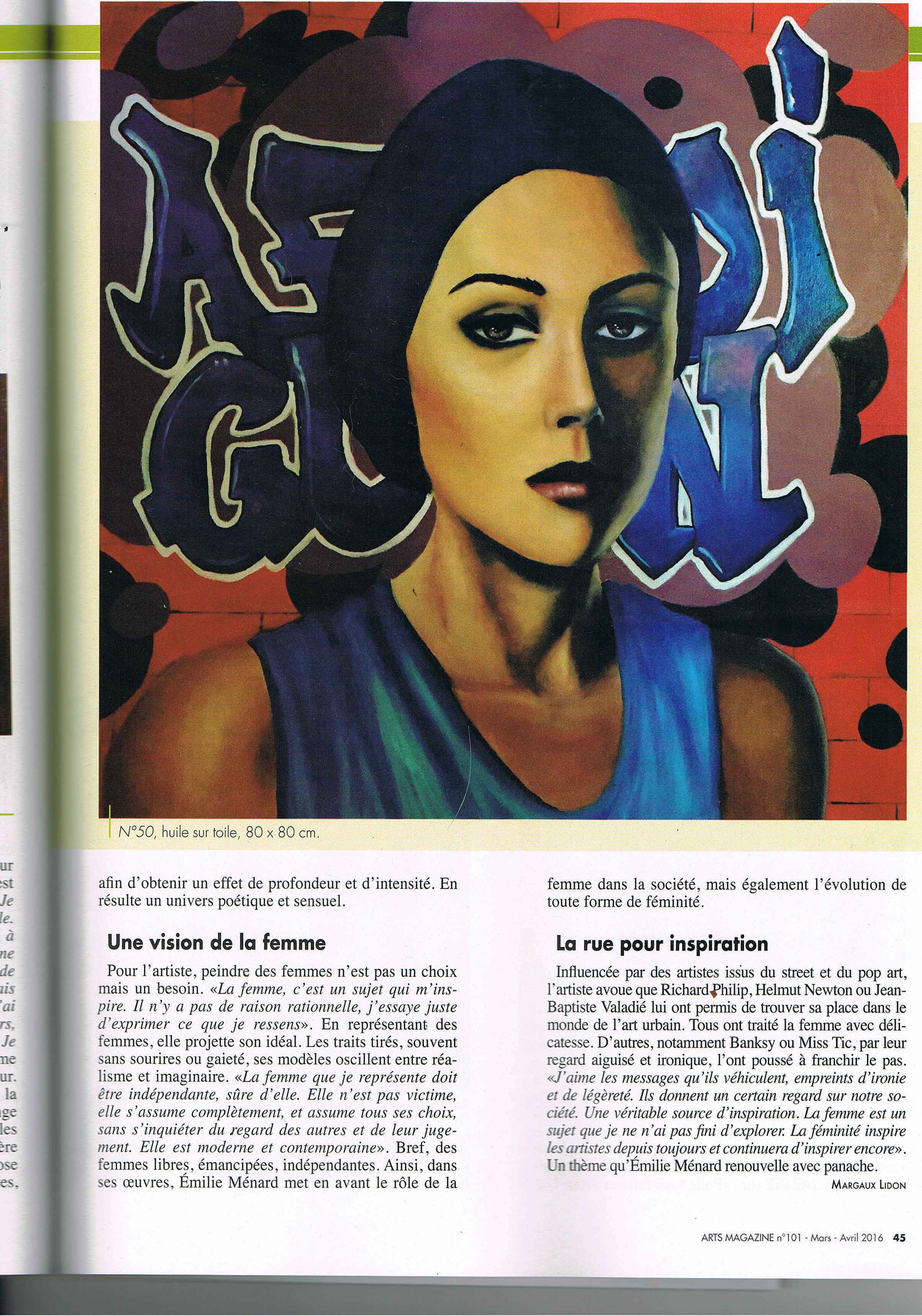 article Emilie Menard - Art Mag - 03.16 - P2